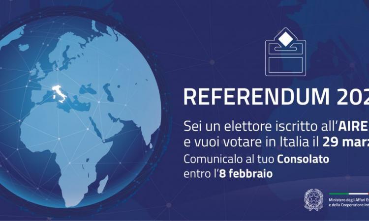 Referendum costituzionale 29.03.2020
