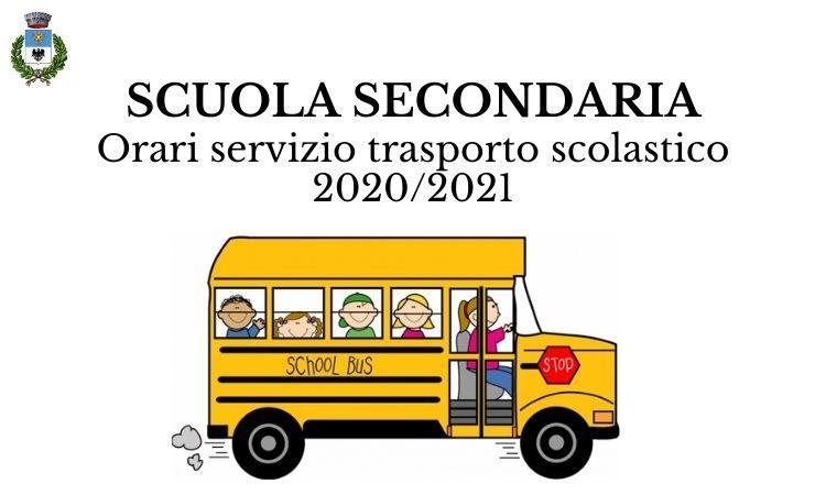 Scuola secondaria orari trasporto scolastico